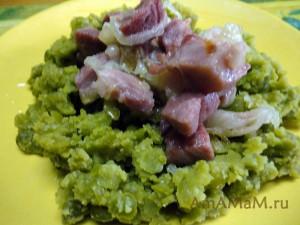 Фото гороховой каши с мясом