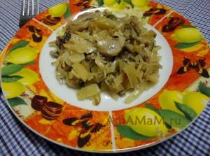 Рецепты для Великого Поста: капуста с шампиньонами