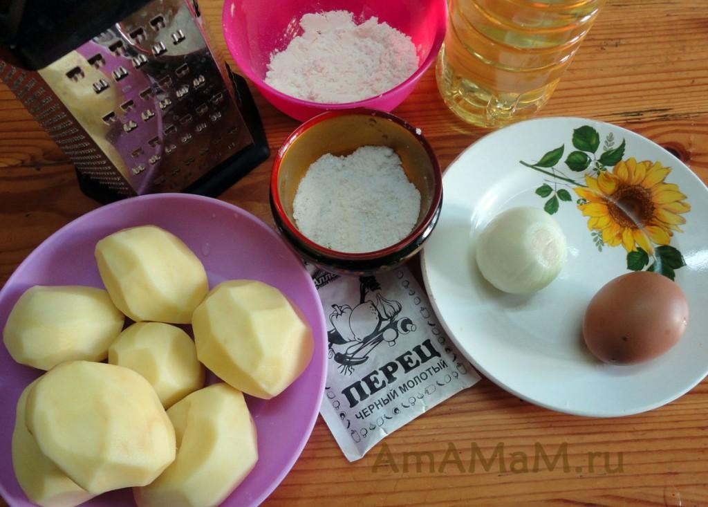 Ингредиенты картофельного пирога и рецепт