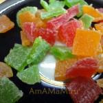 Красивые разноцветные цукаты - фото