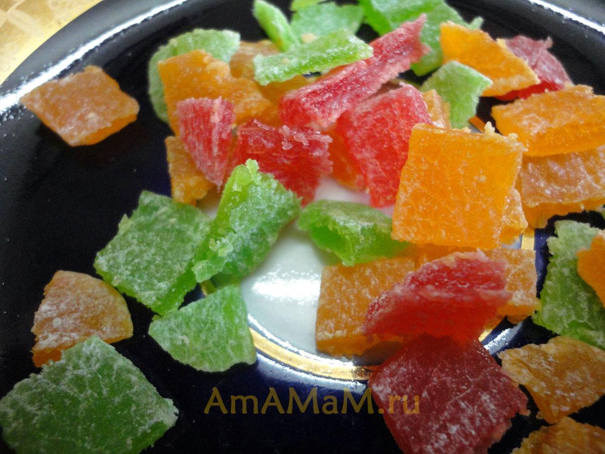 Из чего делают цукаты фото