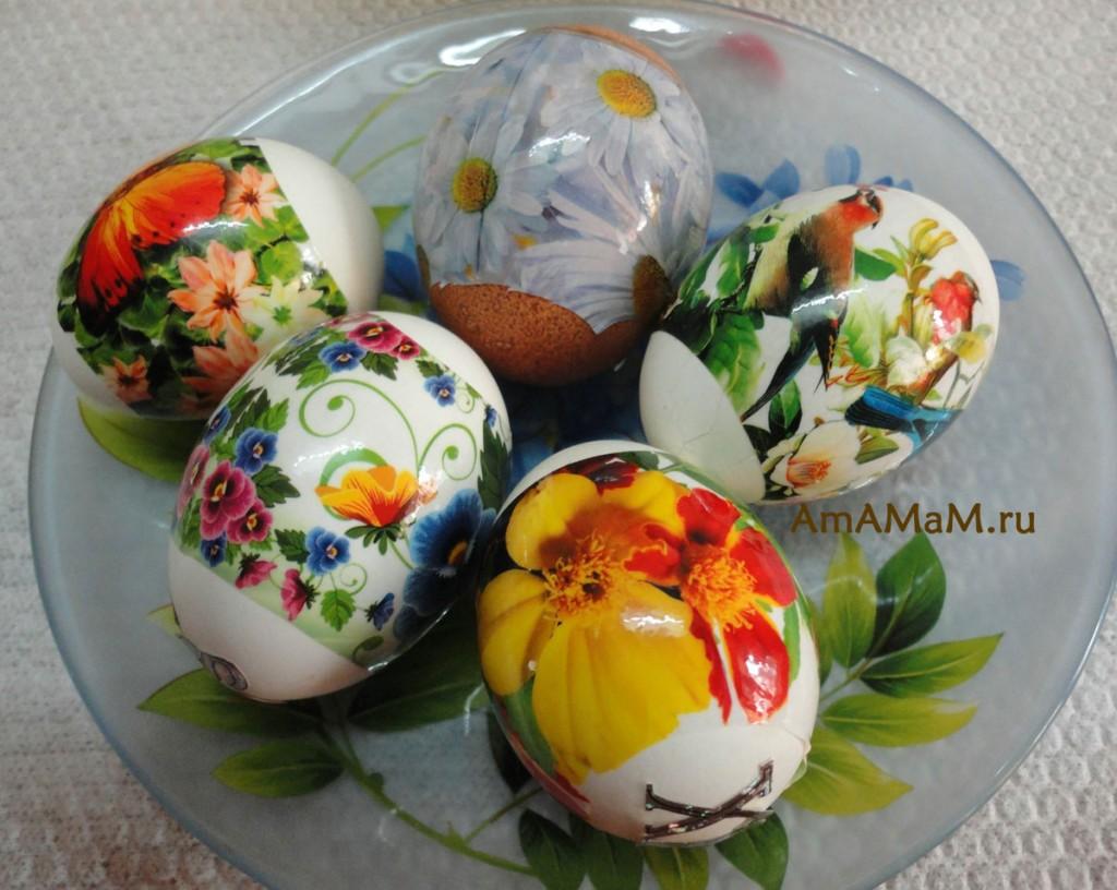 Чем украсить яйца на пасху