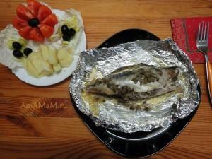 Рецепт скумбрии в фольге в духовке