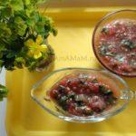 Холодный томатный соус с базиликом