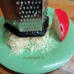 Как натереть сыр на терке (крупной) - фото
