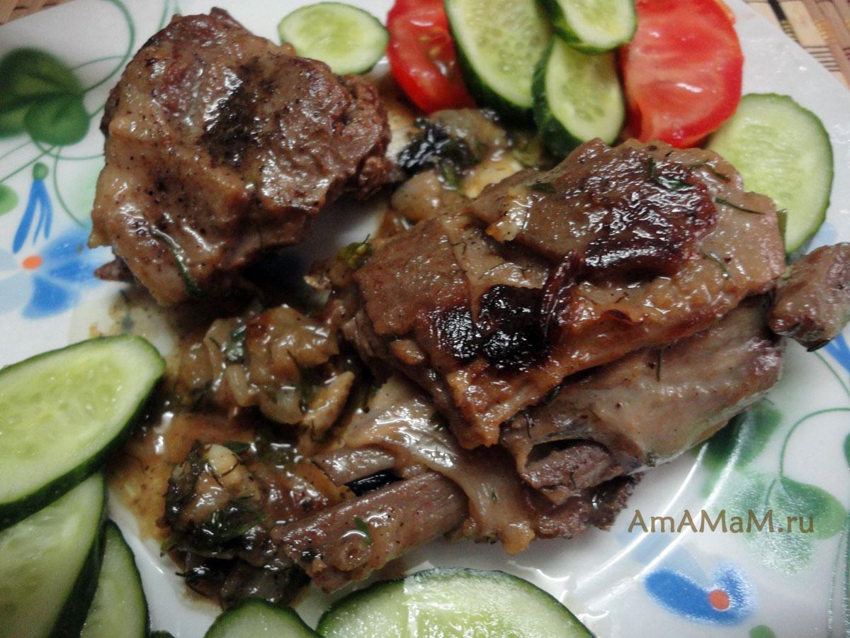 Блюда из бараньих рёбрышек рецепты