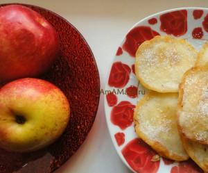 Как пожарить блинчики с яблоками - рецепт с фото