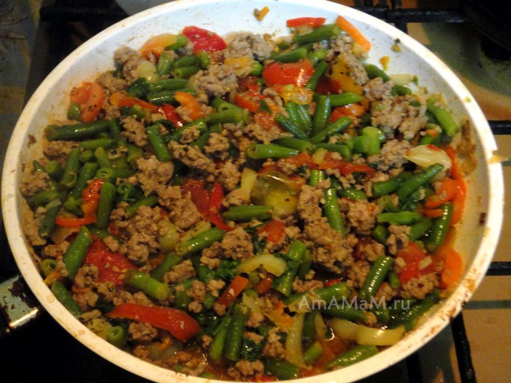 Поджарка из фарша с овощами - простой рецепт с фото