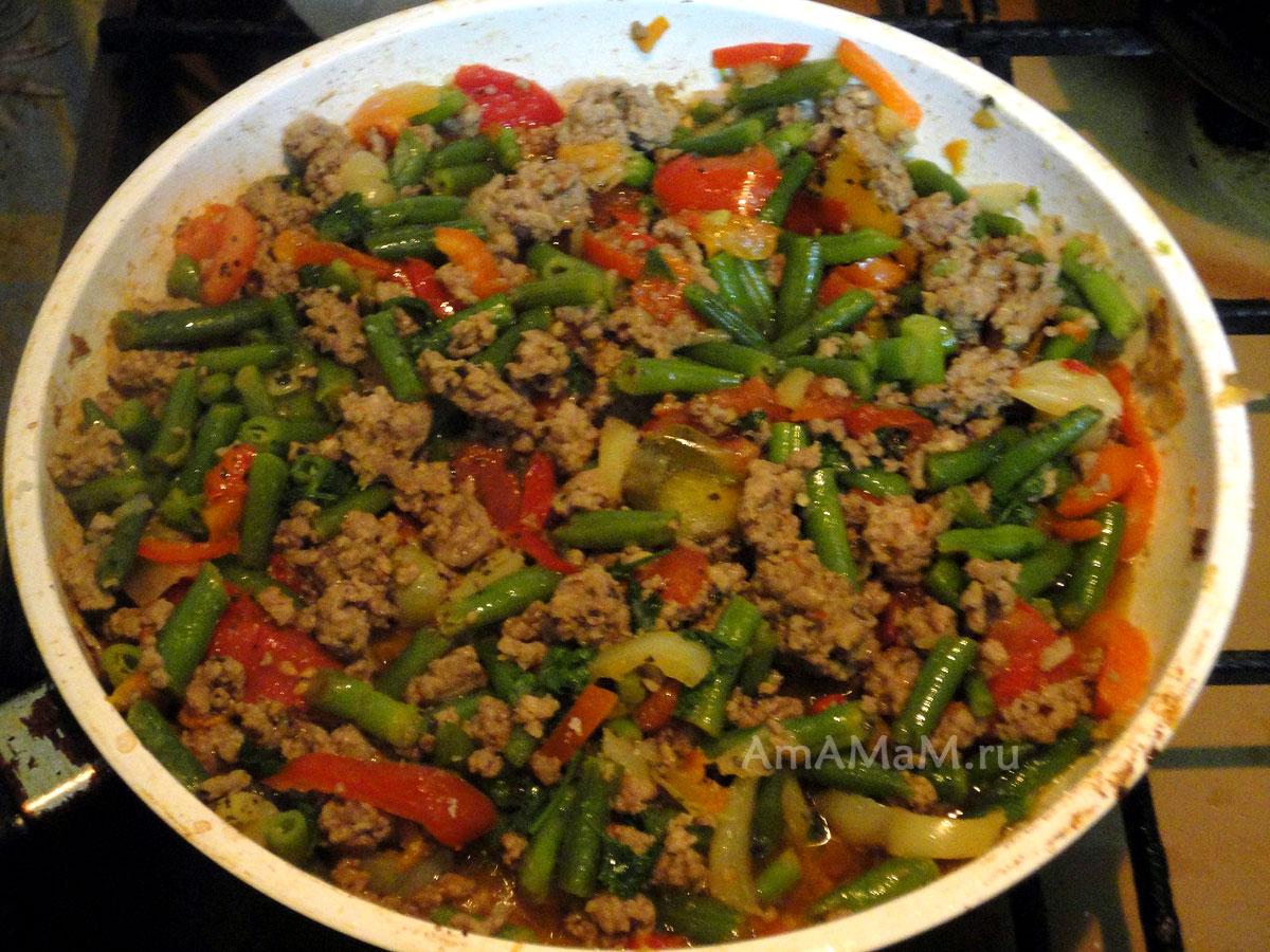 Фарш с овощами рецепт