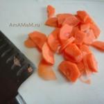 Как выглядит нарезка моркови полукольцами - фото