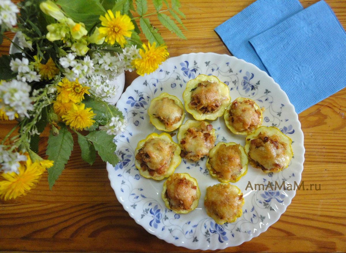Стаканчики из кабачков - рецепт фаршированных овощей