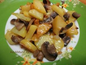 Как приготовить шампиньоны с картофелем - рецепт и  фото
