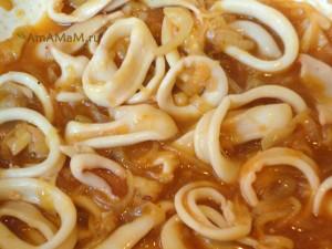 Как приготовить кальмаров - блюдо из колец кальмаров в томате и фото