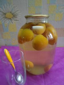 Заготовка абрикосов - компот (рецепт с фото)
