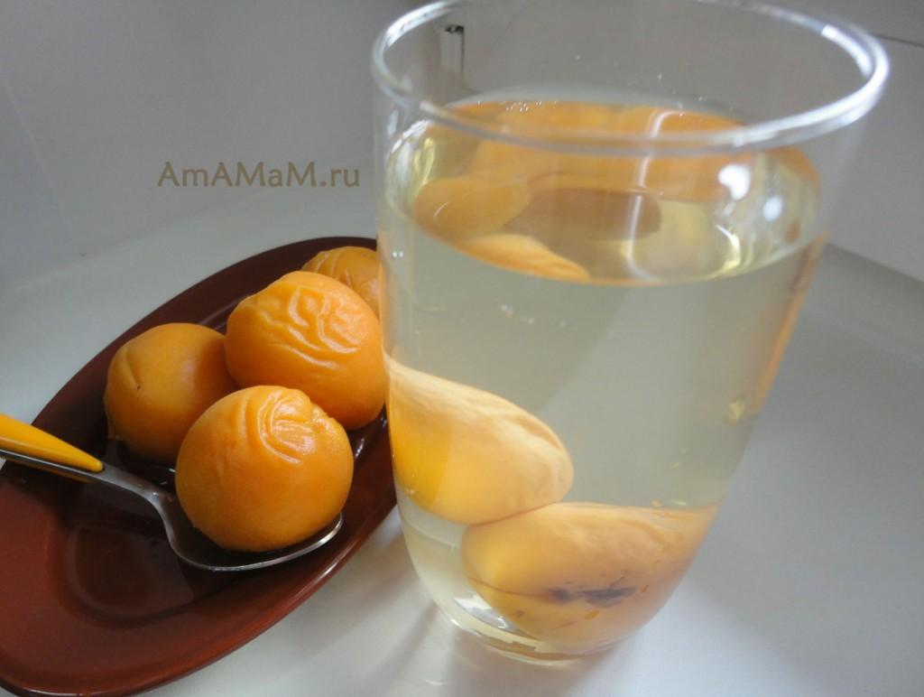 Как варить компот из абрикосов на зиму - рецепт