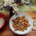 Состав продуктов для жарки капусты с грибами
