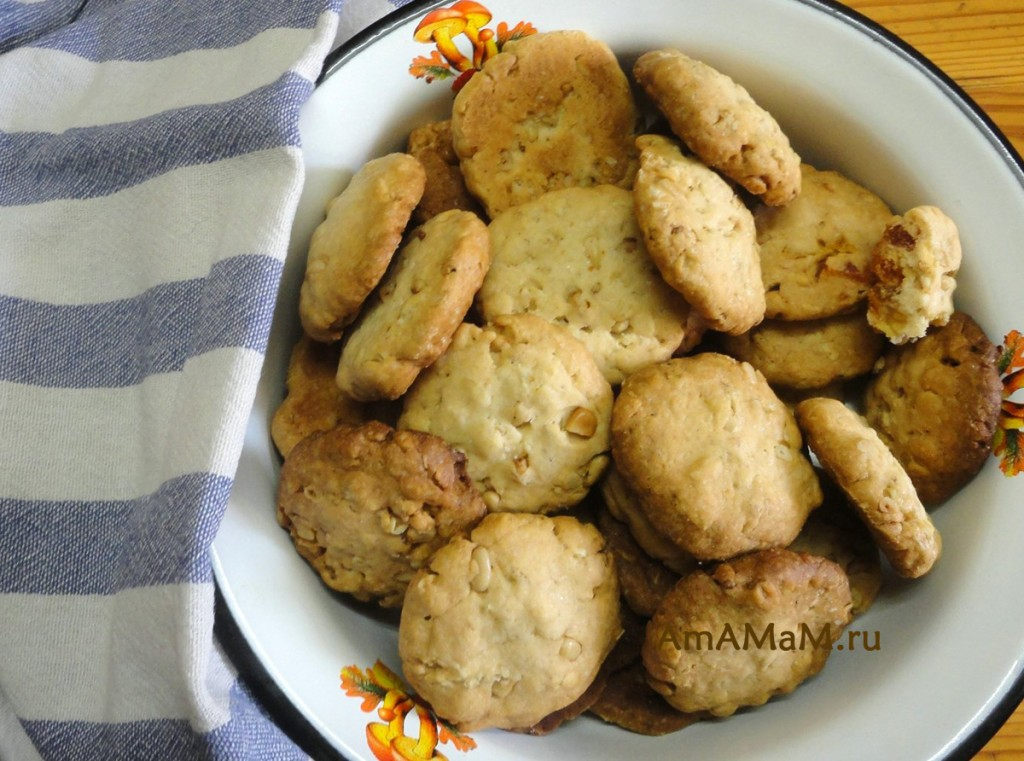 печенье с орехами рецепты с фото простые