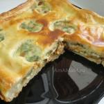 Рецепт пирога из слоеного теста с грибной начинкой