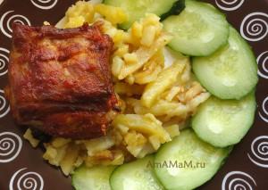 Как готовят свиные ребрышки в меду-  рецепт и фото
