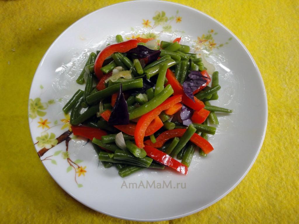 Рецепты спаржевой фасоли - приготовление, фото блюд