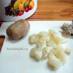 Картофель в мундире для холодного супа-свекольника