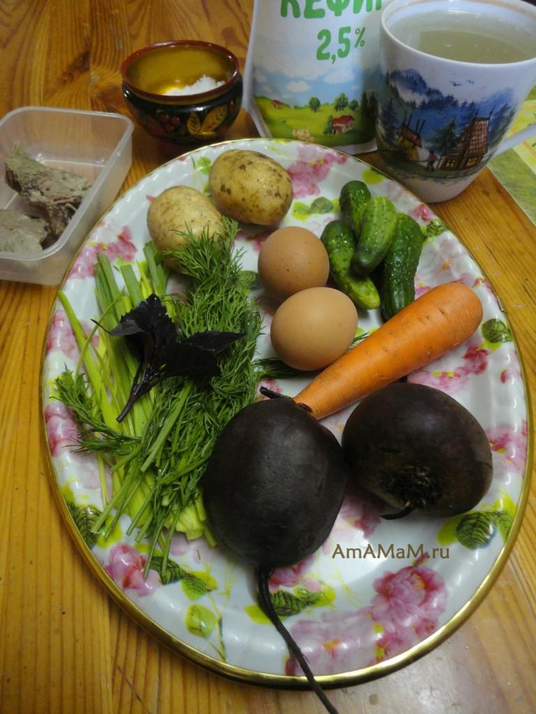 холодный борщ кефиром рецепт фото