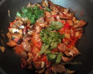 рагу из баклажанов в духовке рецепты с фото