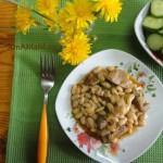 Рецепт свинины с фасолью + фото