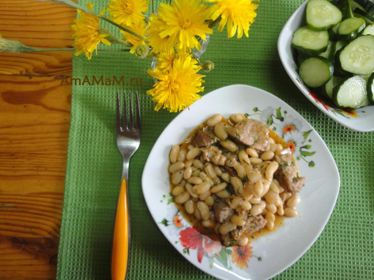 Фасоль белая с грибами рецепт