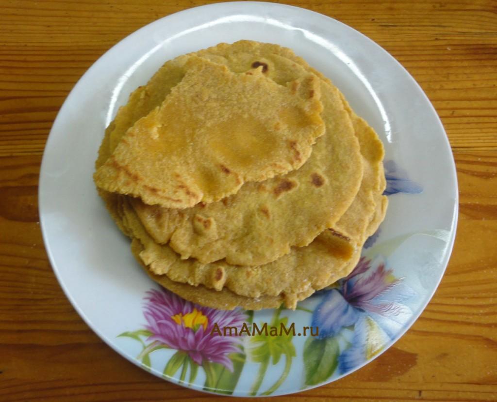 Как выглядят кукурузные лепешки Тортильяс - мексиканский рецепт