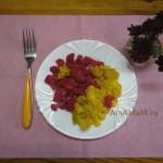 Отварная цветная капуста 2 цветов - под чесночным маслом и лимоном