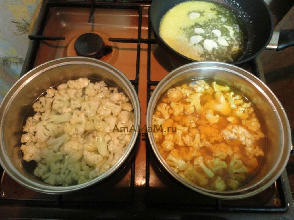 Как приготовить цветную капусту вареную