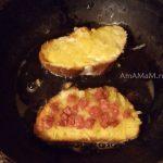 Как готовят бутерброды с тертой картошкой и колбасой