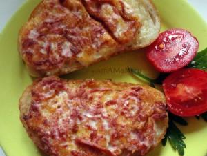 Закуски на скорую руку - жареные бутерброды, рецепты