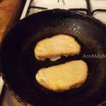 Как жарят бутерброды с картошкой и колбасой - тертые