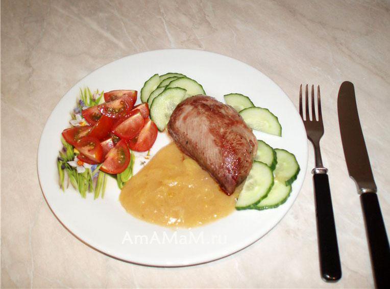 Рецепты - утиная грудка под соусом