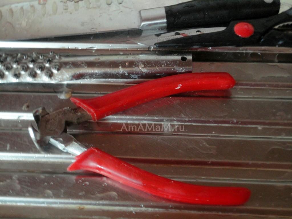 Чем срезать жесткие плавники у рыбы - кусачки, фото
