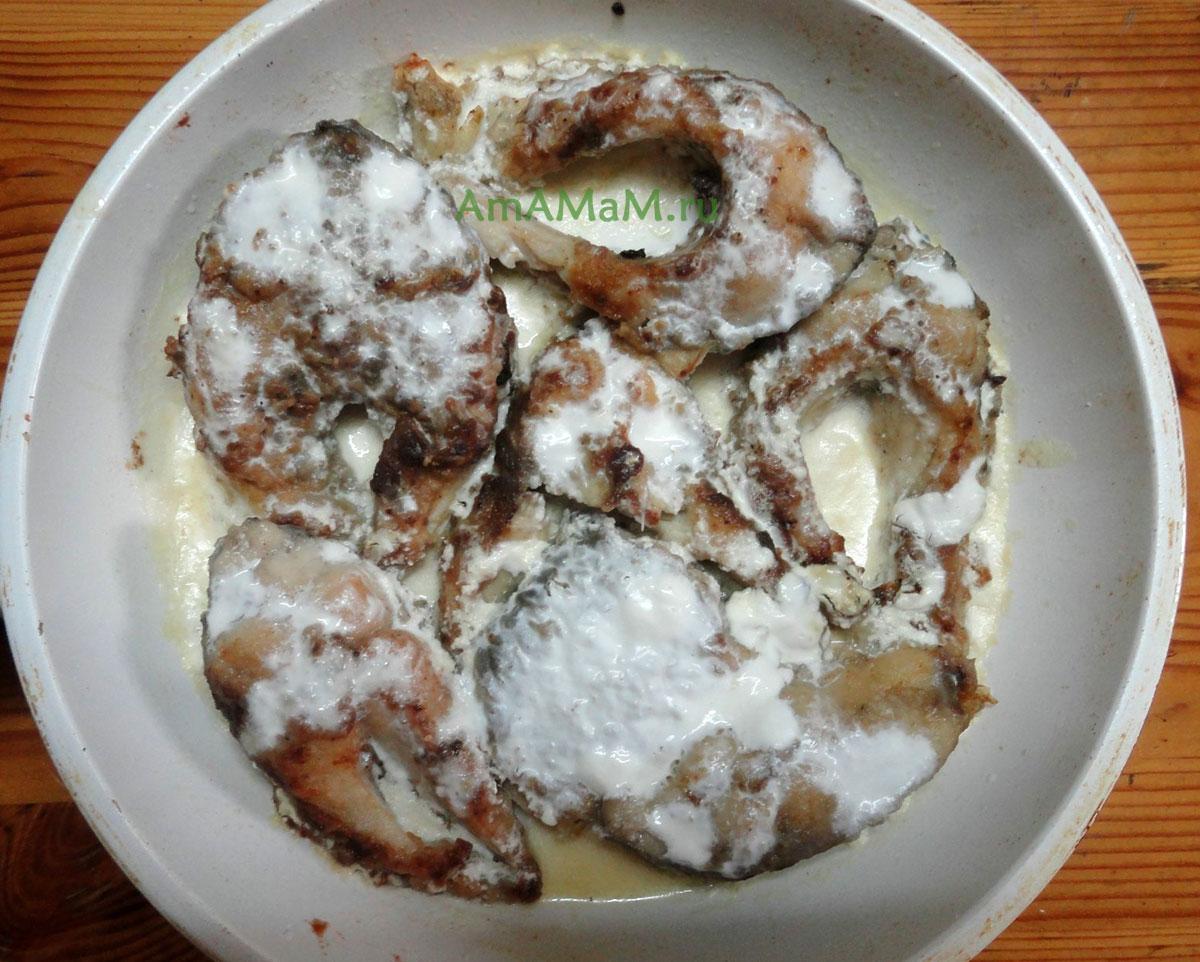 Рецепт жареного карпа на сковороде пошагово