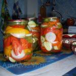 Салат огурцы-помидоры на зиму