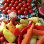Ингредиенты рецепта салата с рисом на зиму