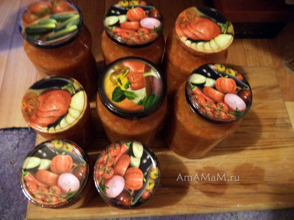 Рецепт заготовки салатов без стерилизации с рисом