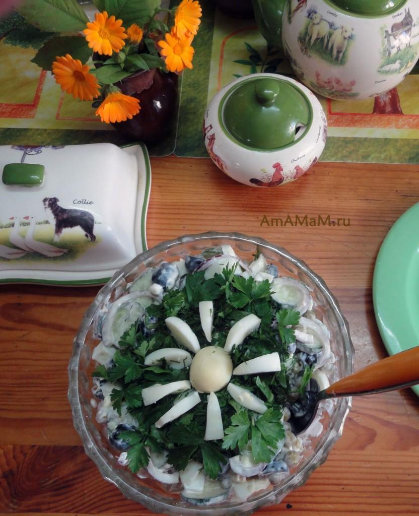Из чего сделать салат с огурцами - рецепт и фото блюда