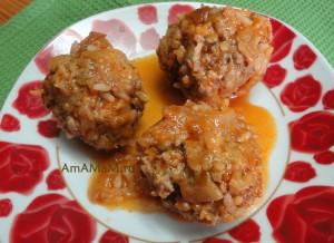 Простой рецепт вкусных тефтелей с мятой в томатном соусе