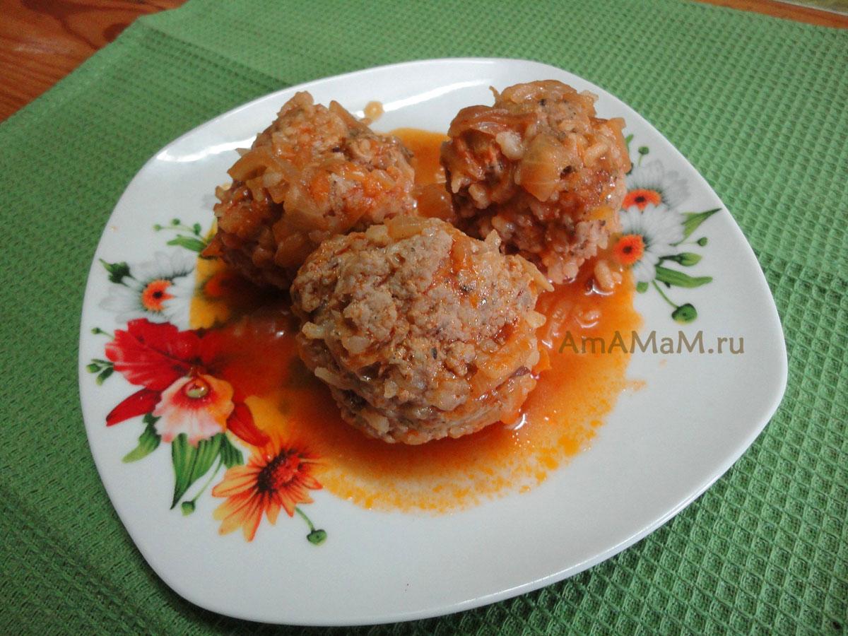Тефтели с рисом в томатном соусе фото рецепт пошагово