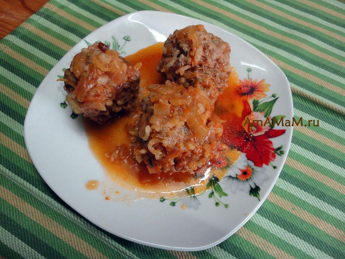 Тефтельки в томатном с подливкой рецепт