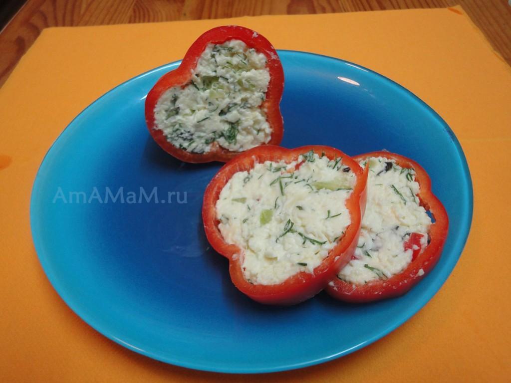 Как приготовить фаршированный перец с плавленым сыром - рецепт и фото