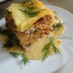 Рецепт лазаньи (фарш, овощи) и рецепт приготовления