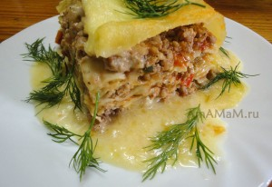 Приготовление лазаньи (фарш, овощи) - рецепт и фото