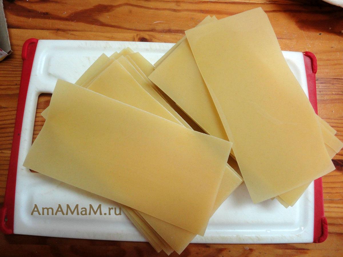 Рецепт листа лазаньи в домашних условиях