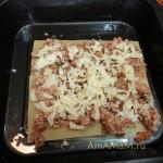 Как посыпать лазанью сыром - фото